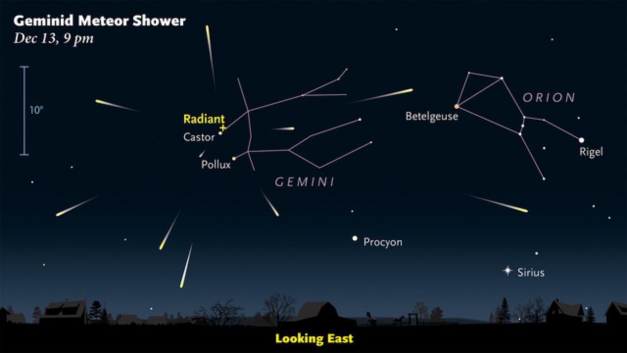 BLOG: Geminid Meteor Shower Peaks Wednesday...