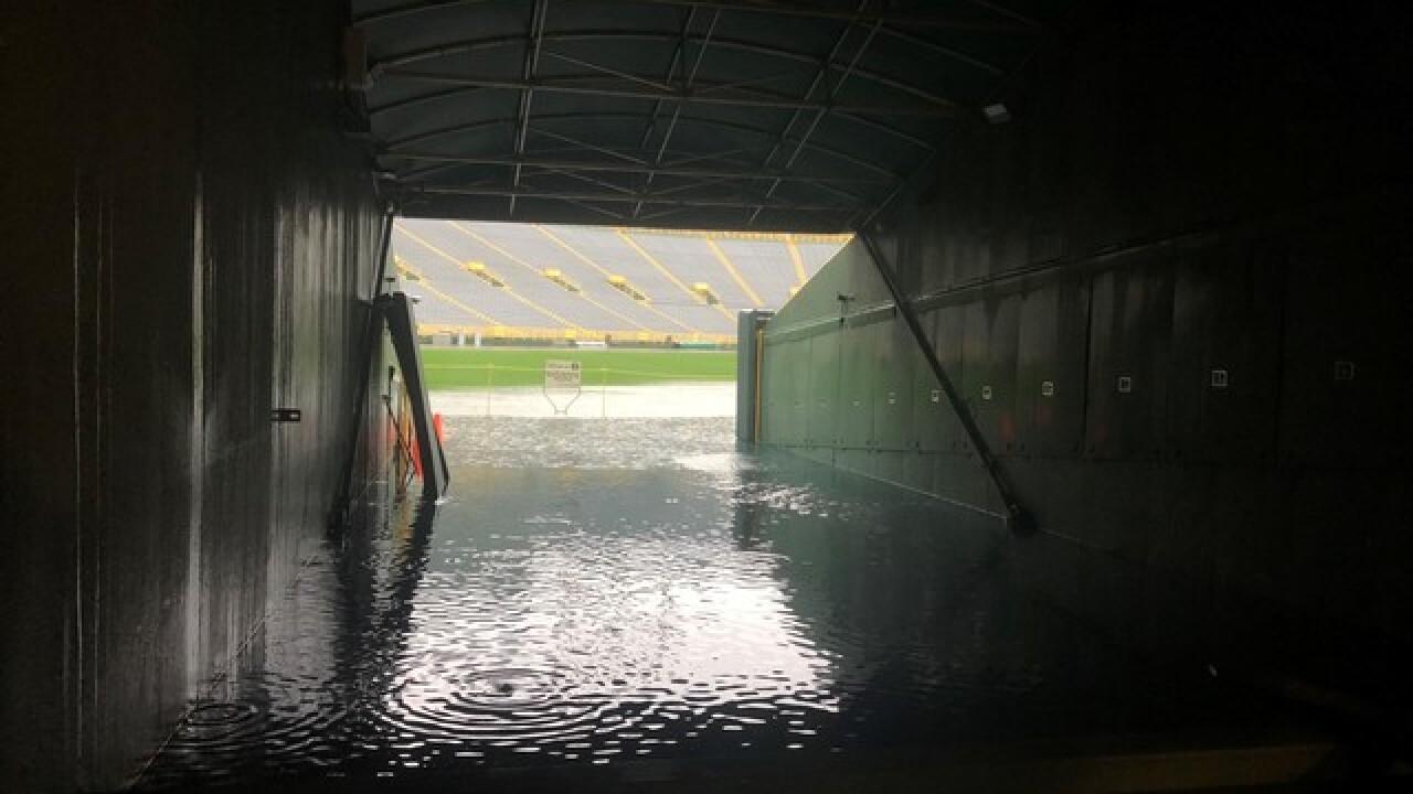 Flooding at Lambeau Field