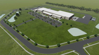 A rendering of the proposed Franklin slaughterhouse.