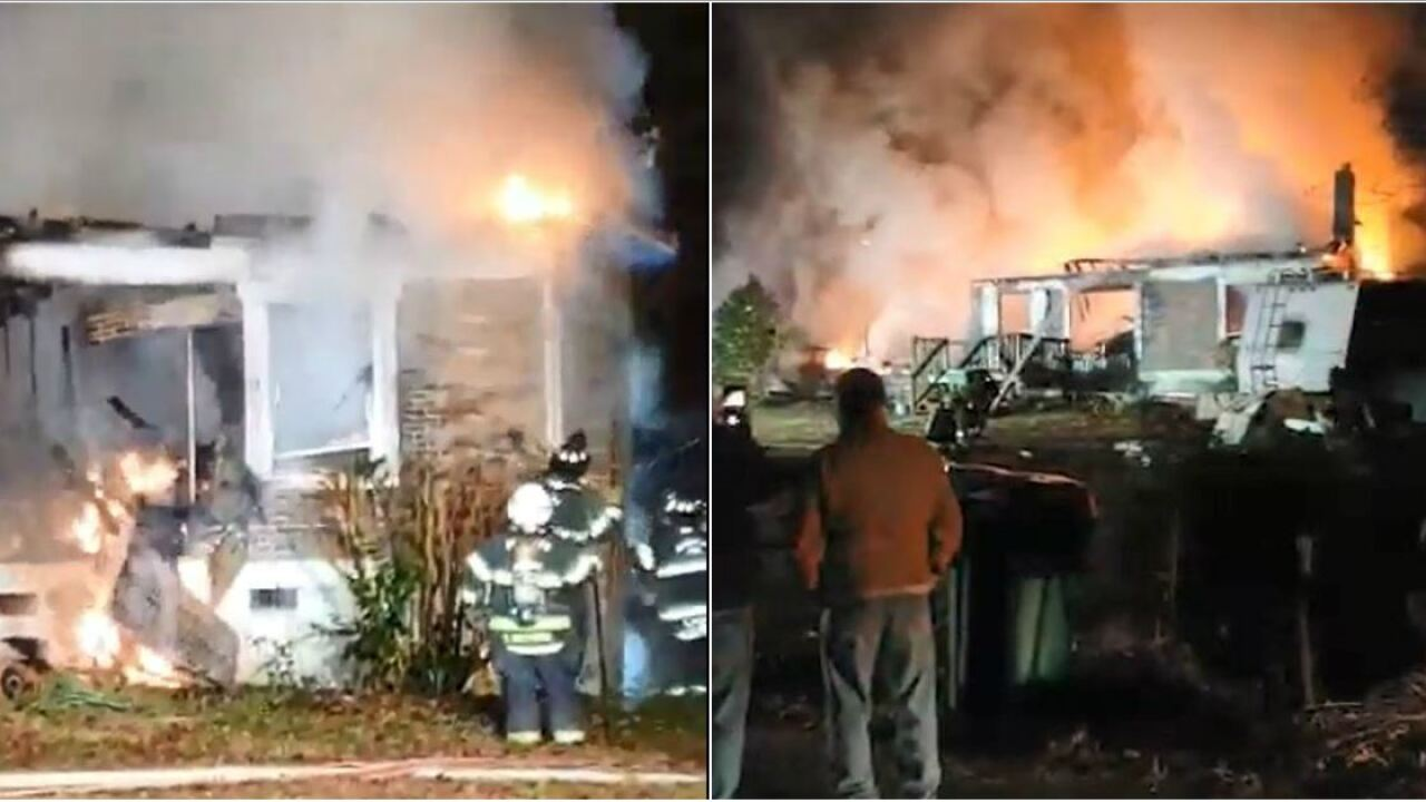 Family loses home, pets in Christmastime house fire