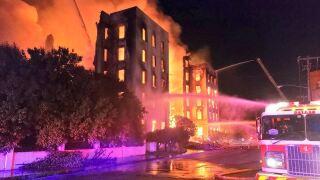 Fire destroys 115-year-old former luxury hotel in Dallas