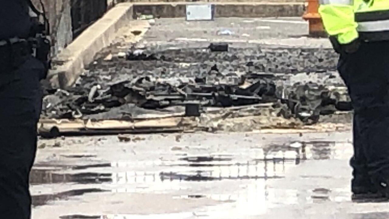 Man killed after a Port A Potty next to Ravens stadium caught fire.