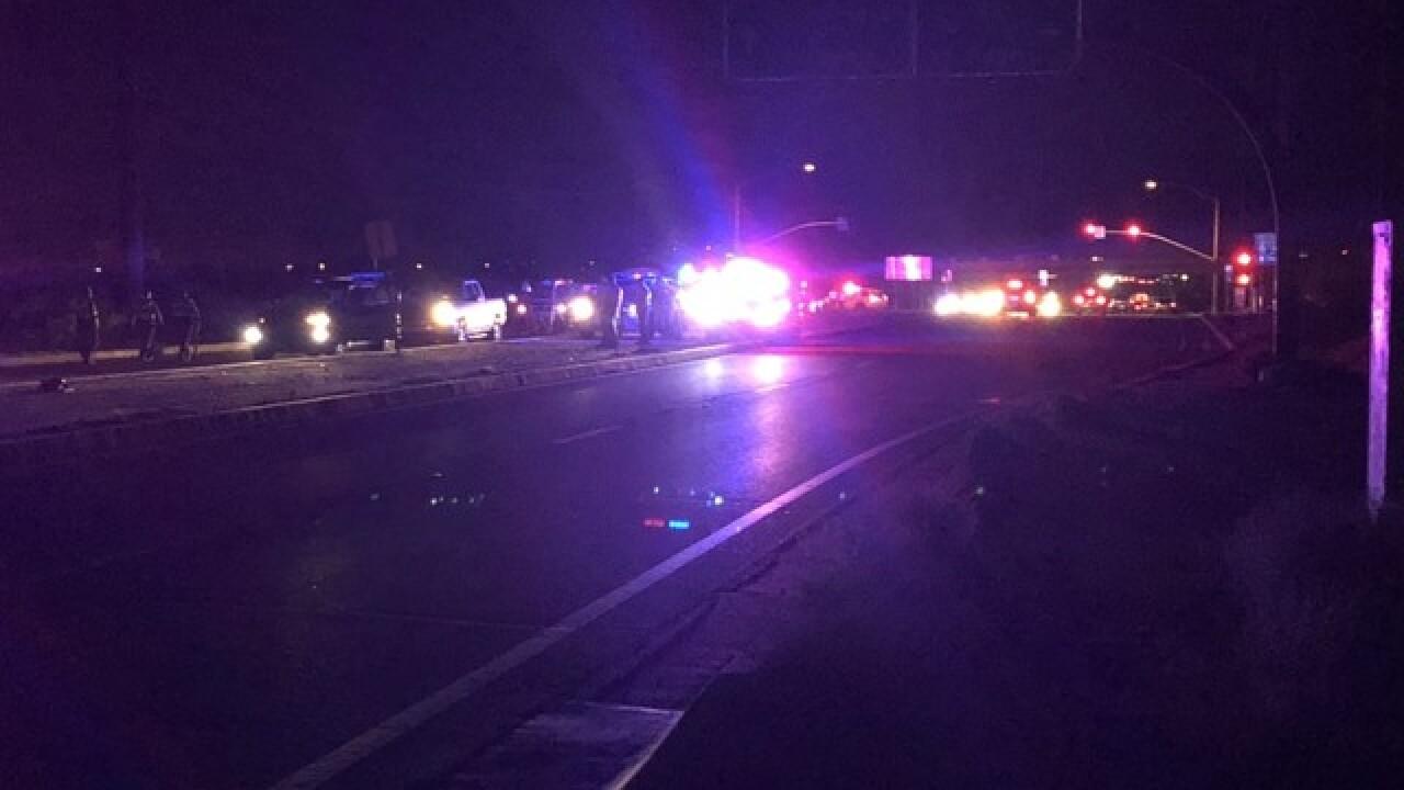 Vehicle hits pedestrian at I-10 & Alvernon
