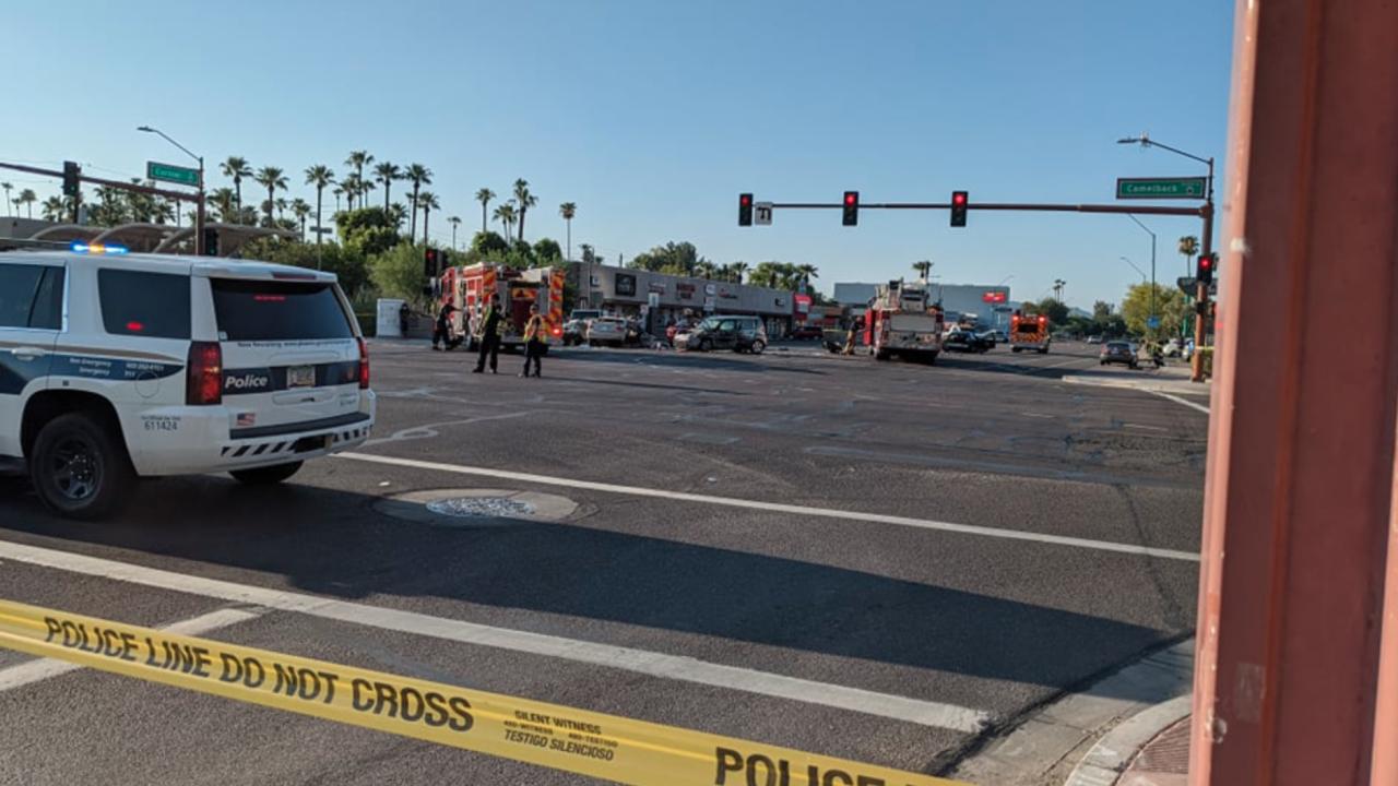 Red light runner crash Central and Camelback