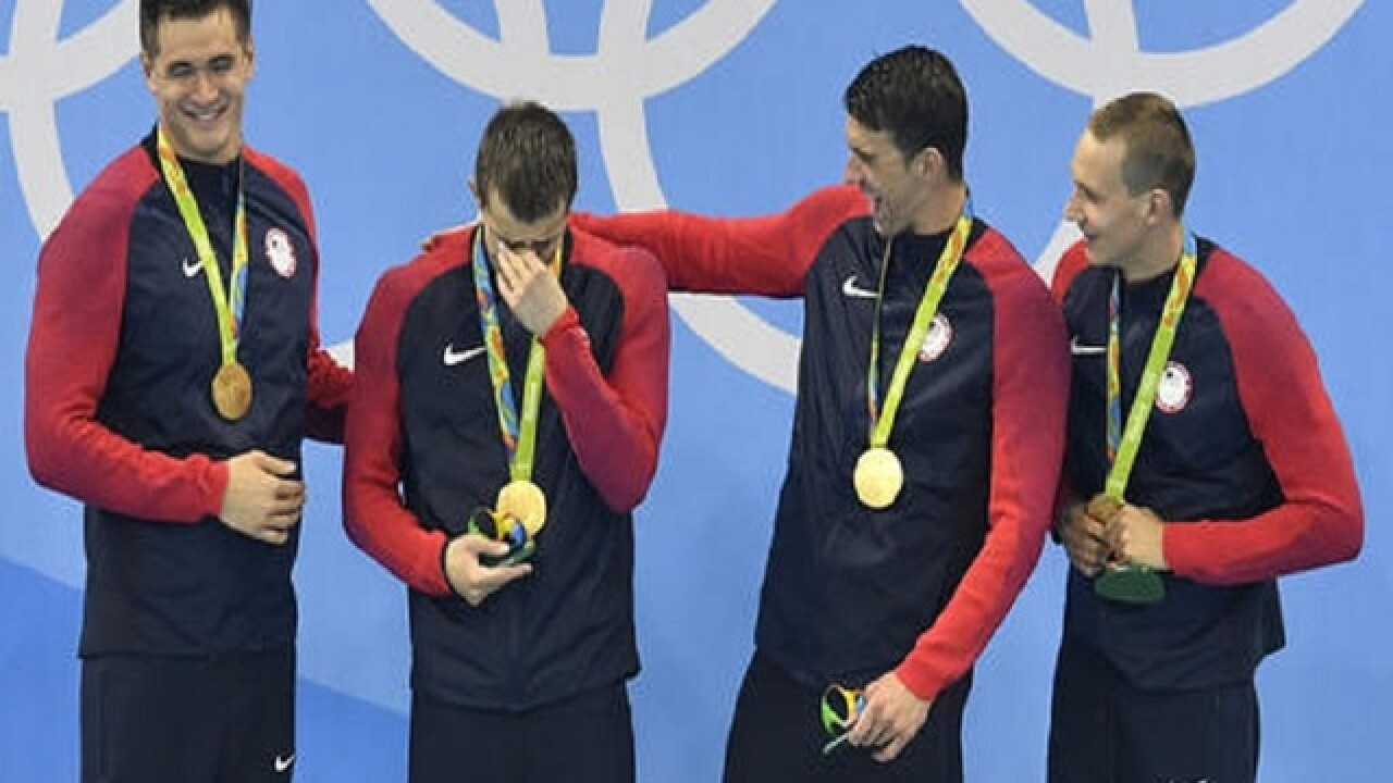 Oh say can you sob: US swimmers get emotional at Rio Games