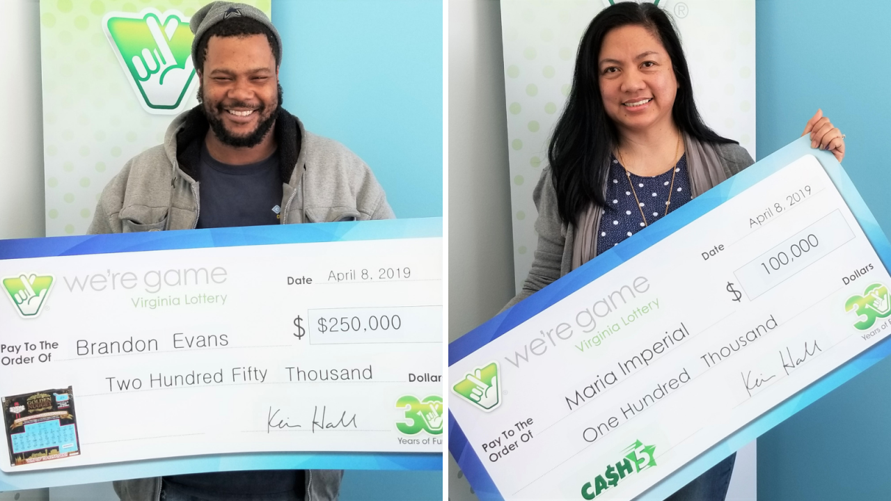 Two Hampton Roads residents win big in Virginia Lottery