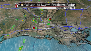 Stray showers Tuesday; better rain chances towards the end of the week