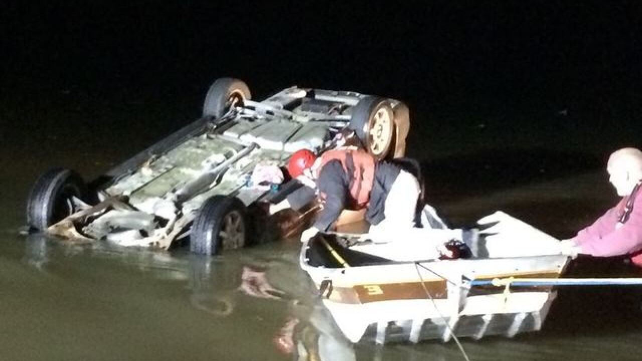 Crews make at least 2 water rescues in central Indiana