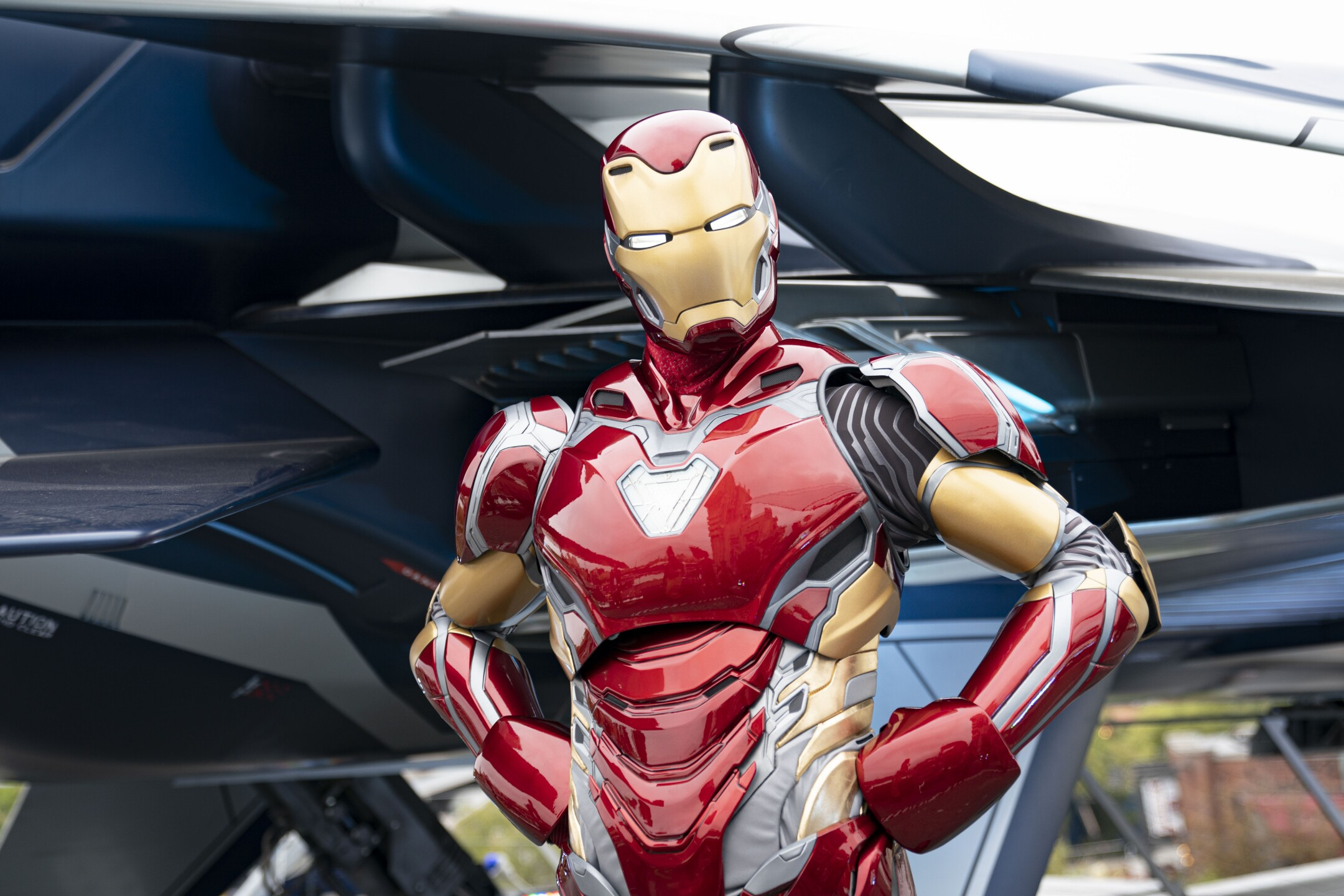 The Invincible Iron Mat at Avengers Campus