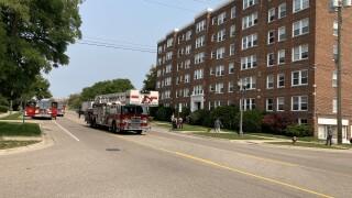 Fire at Washington Apartments in Lansing