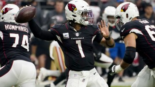 The NFL's only unbeaten team, the Arizona Cardinals will put their perfect mark on the line Sunday when they visit the Cleveland Browns. AP photo.