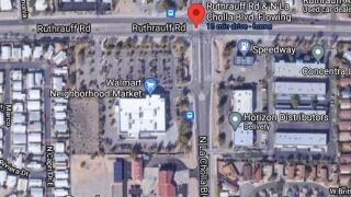 Downed power lines slowed traffic at La Cholla Blvd. and Ruthrauff Road Friday.