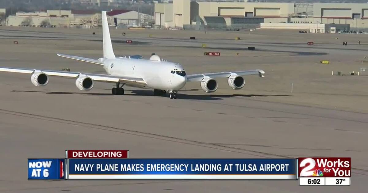Military plane diverts to Tulsa after reported fire on board