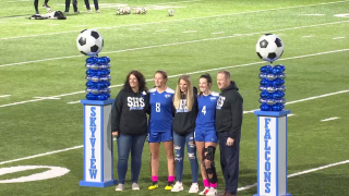 Billings Skyview soccer senior night