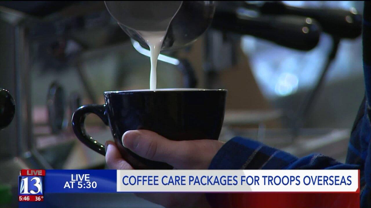 Utah coffee shop sends love, caffeine to troops deployedoverseas