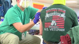 Military veterans receive COVID vaccine in Havre