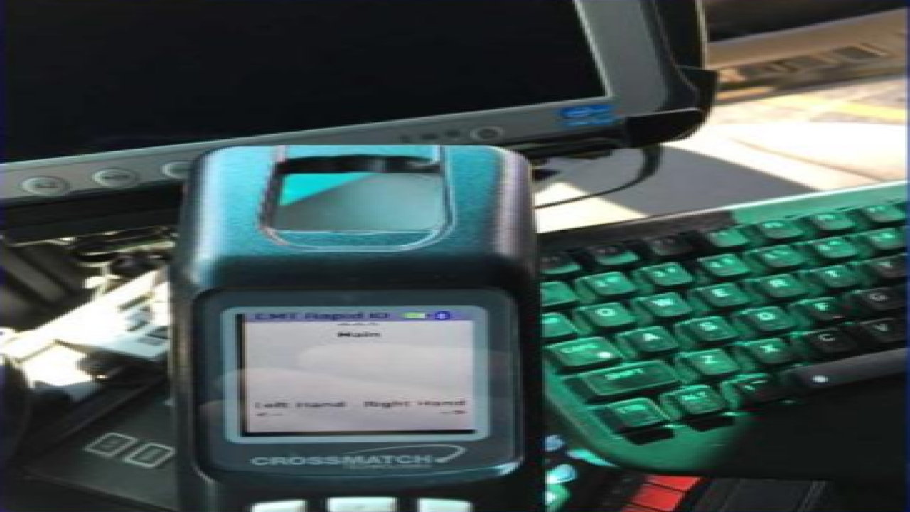 Eaton County using mobile fingerprint scanners