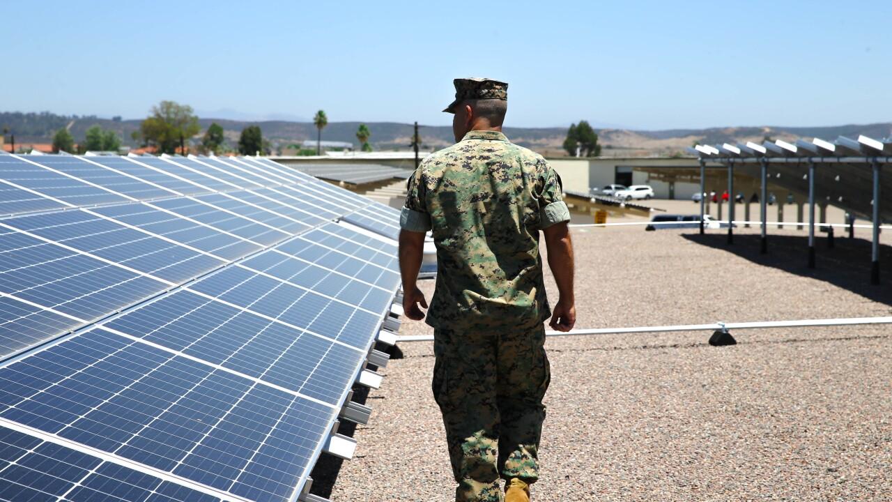 Solar panels at MCAS Miramar
