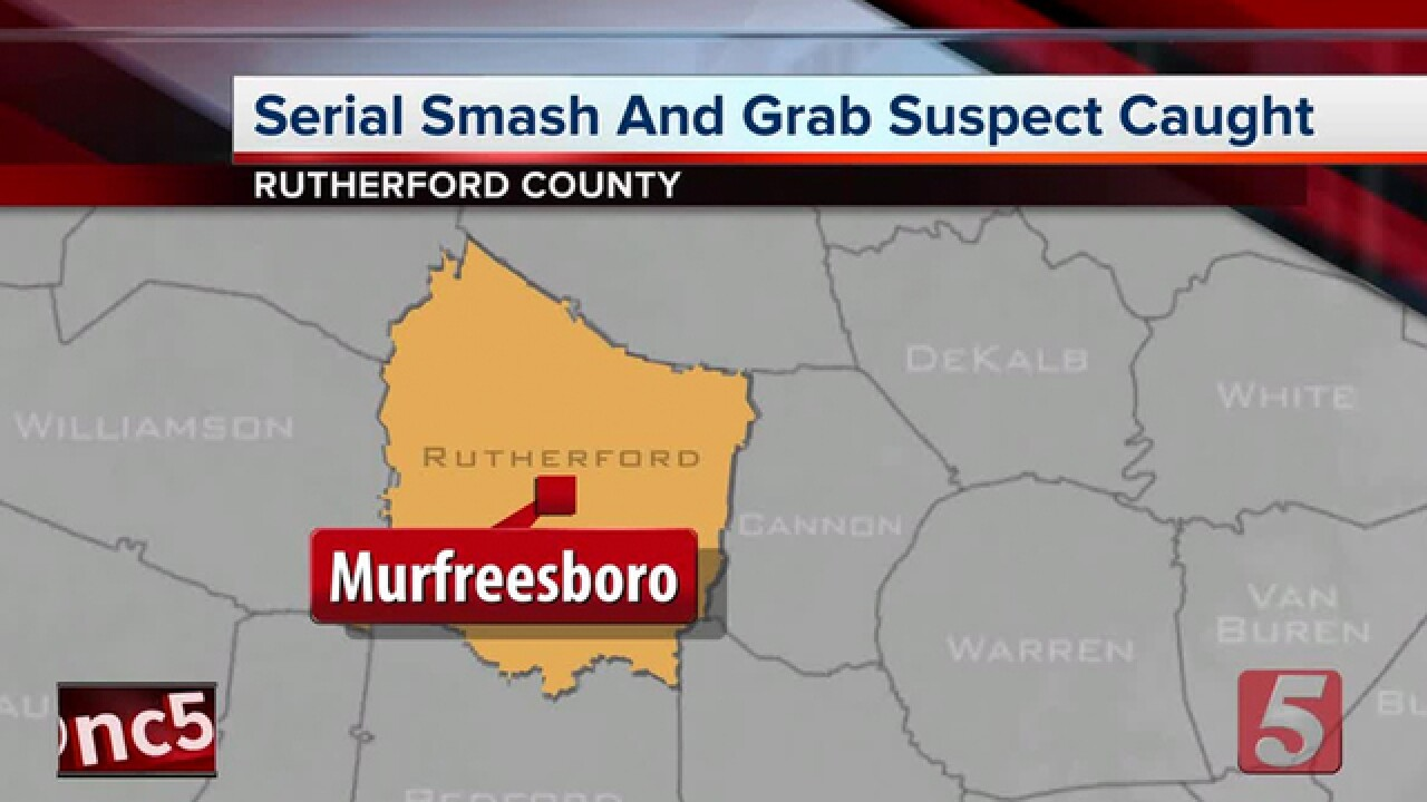 1 arrested in string of Murfreesboro smash-&-grabs