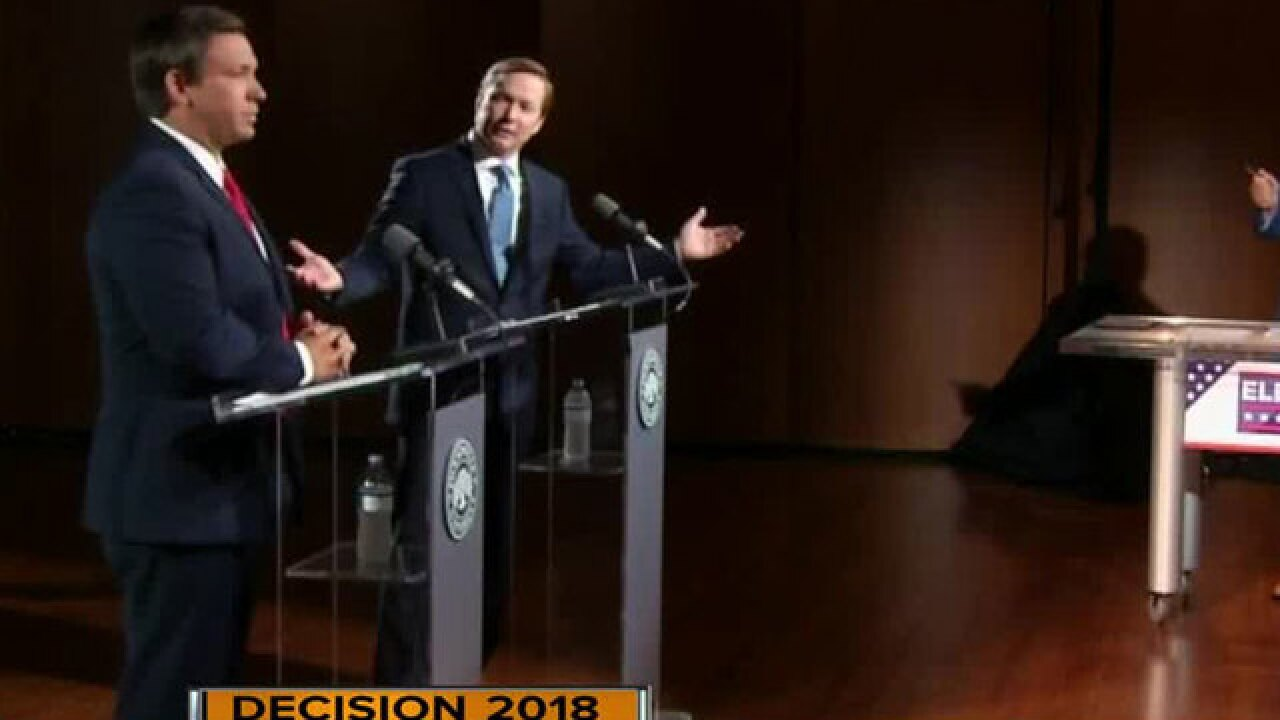 Ron DeSantis, Adam Putnam trade blows during GOP debate for governor