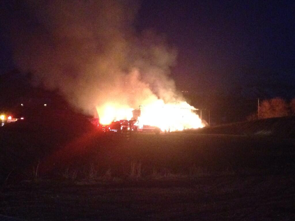 Photos: Cache Valley Fire responds to barnblaze