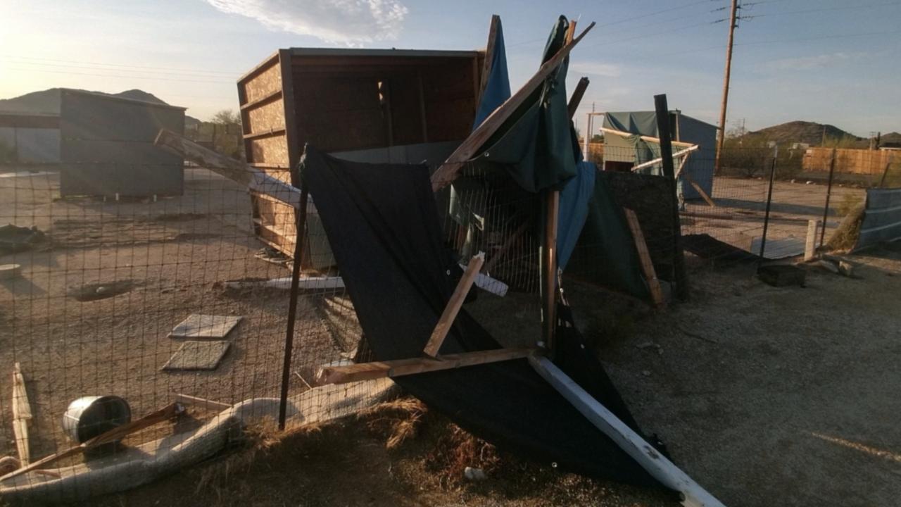 2nd Chance Dog Rescue storm damage