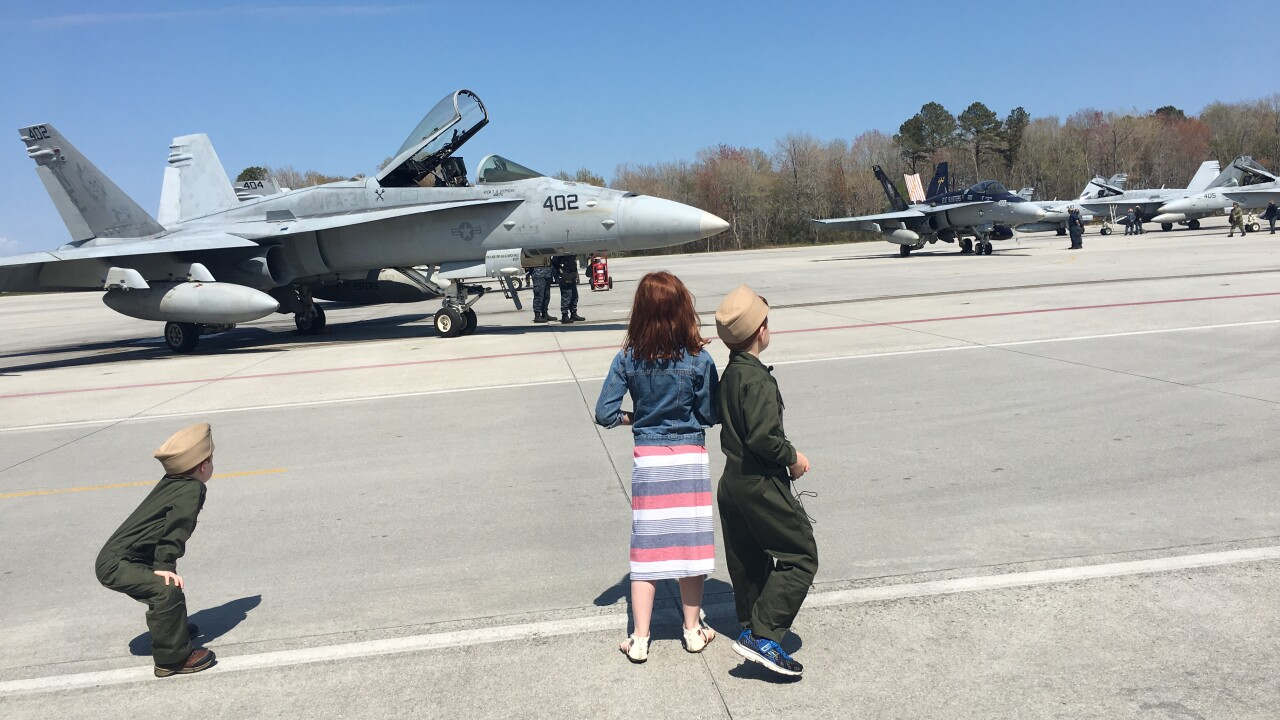 VFA 34 'Blueblasters' return to NAS Oceana after historic deployment