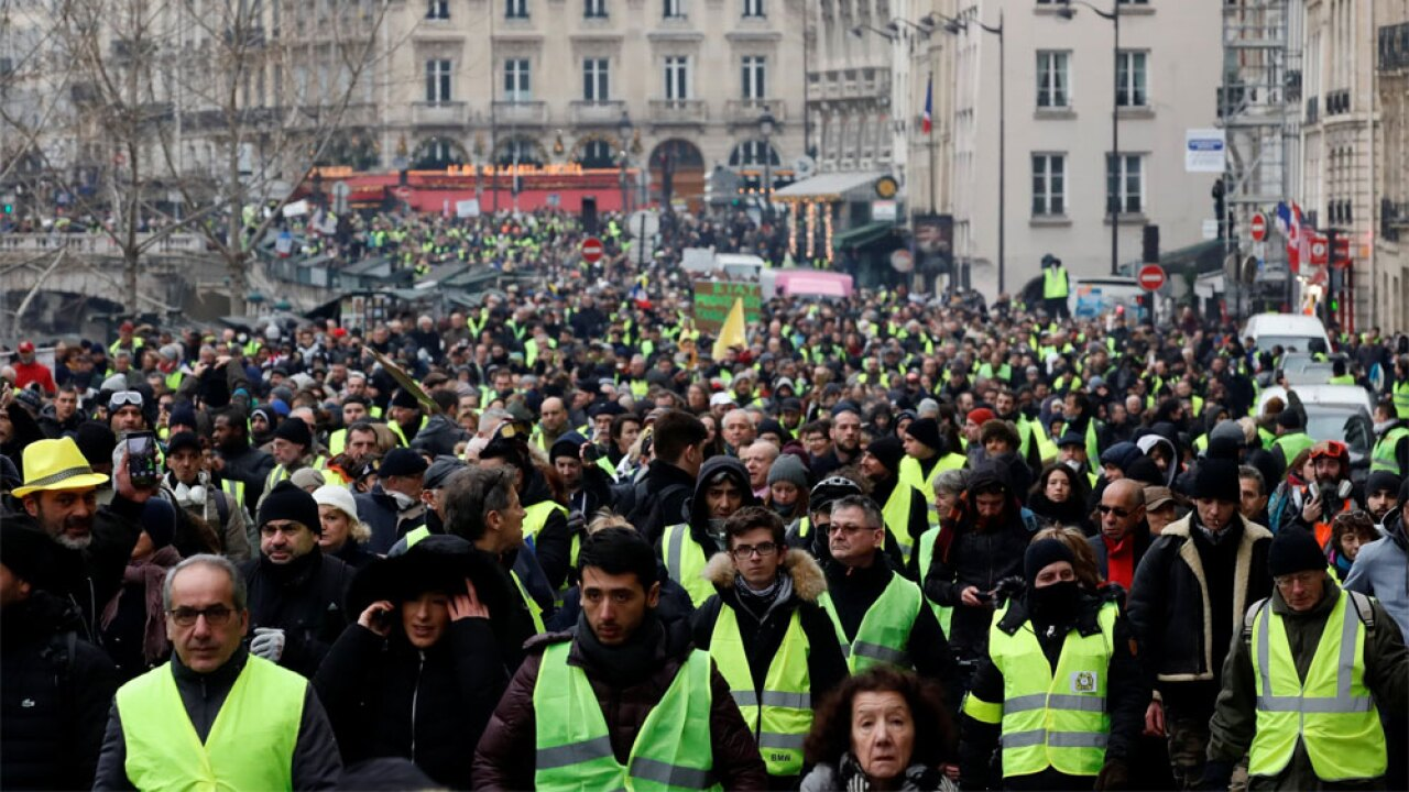 WPTV yellow vest protests in France 010519