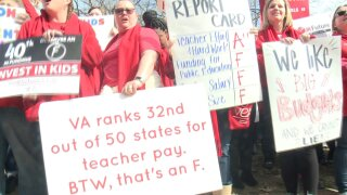 Virginia teachers union holds 'Fund Our Future'rally