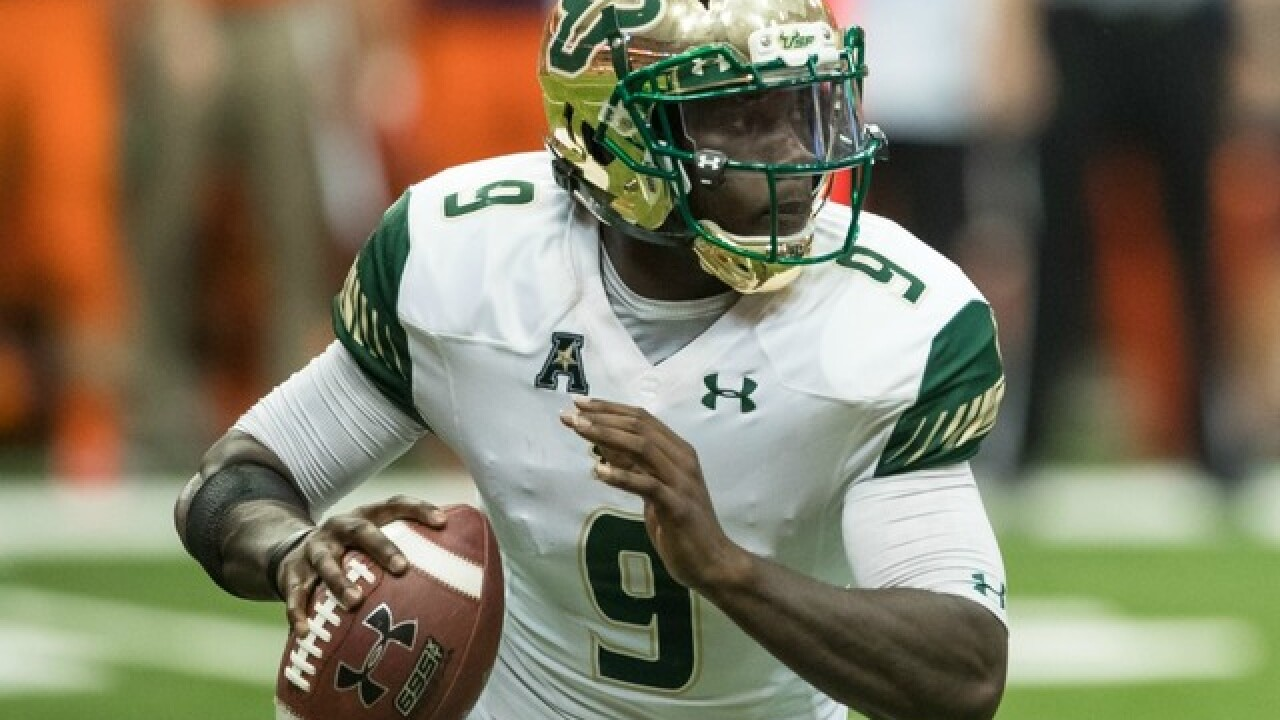 Quinton Flowers leads No. 16 South Florida past Tulane, 34-28