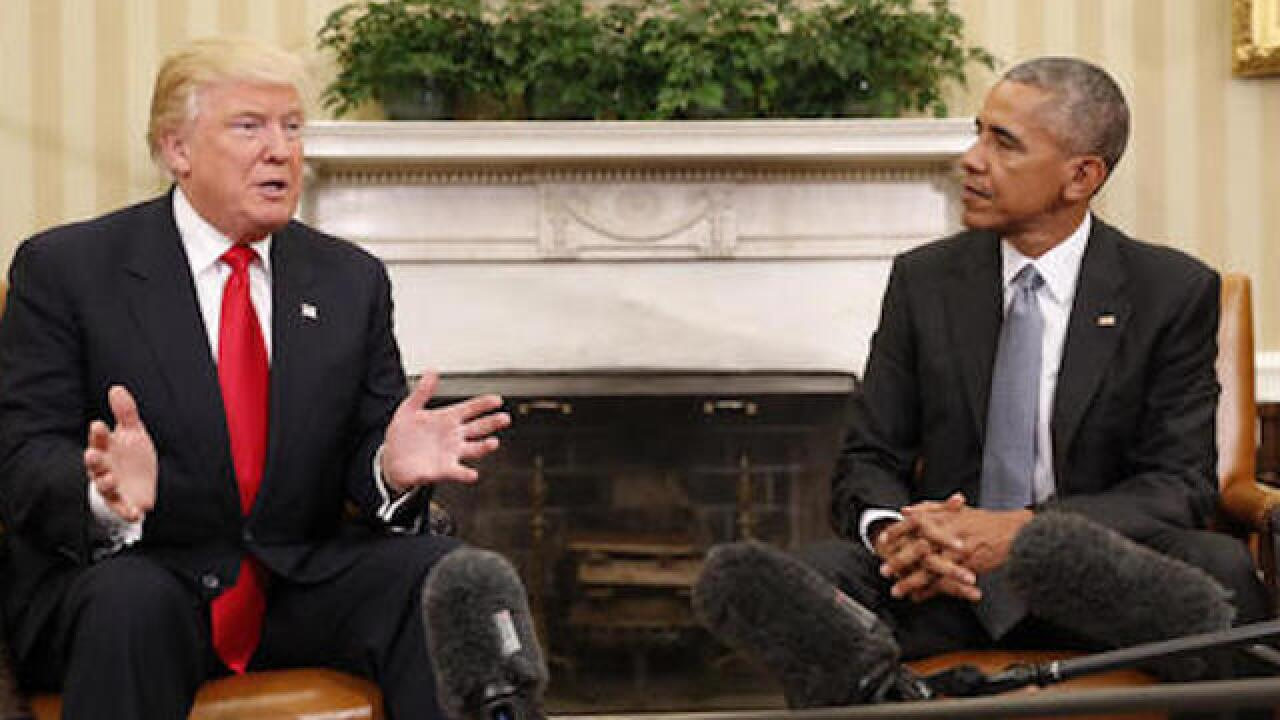 Obama set to meet with Trump in Oval Office