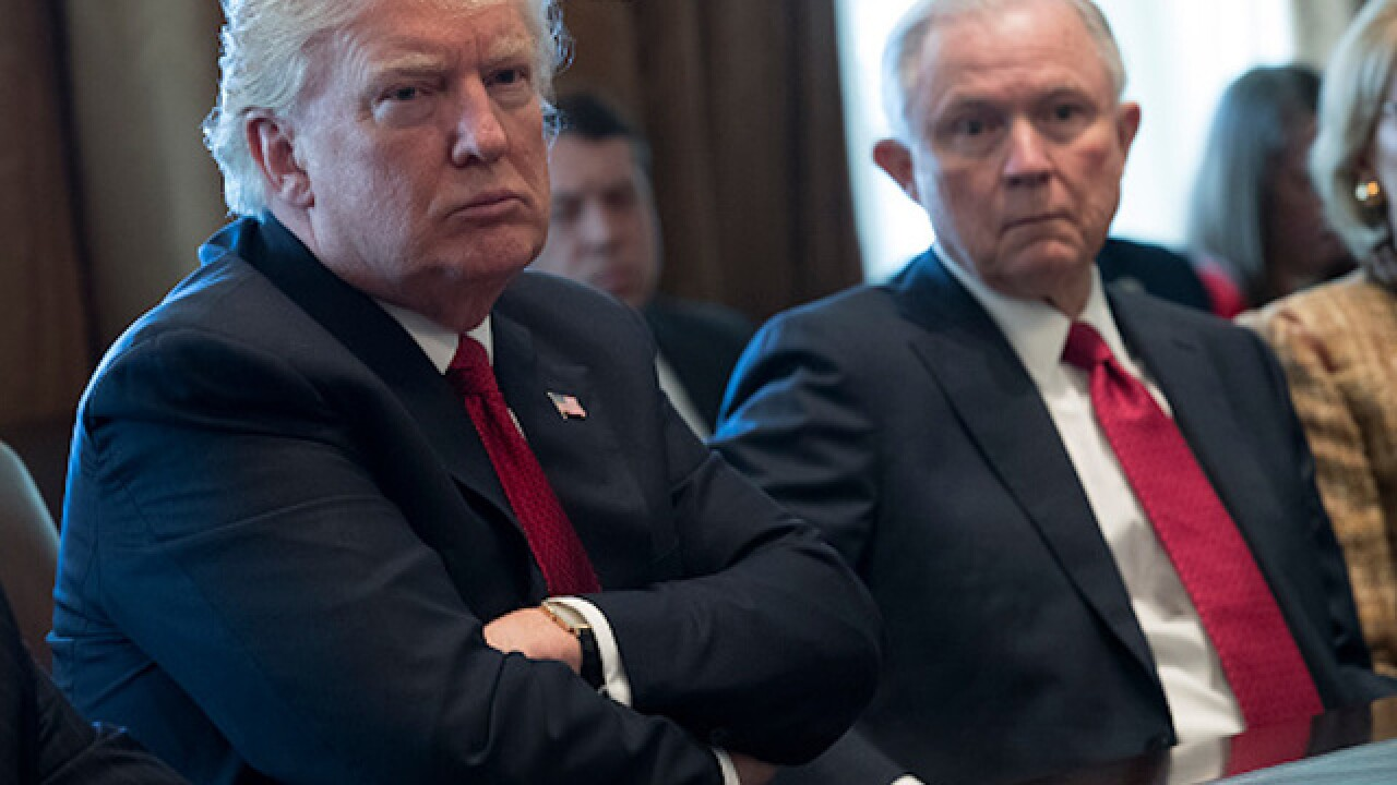 President Trump takes aim at Sessions again, even as AG attends White House meeting