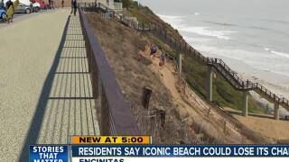 Residents fear iconic beach could lose its charm