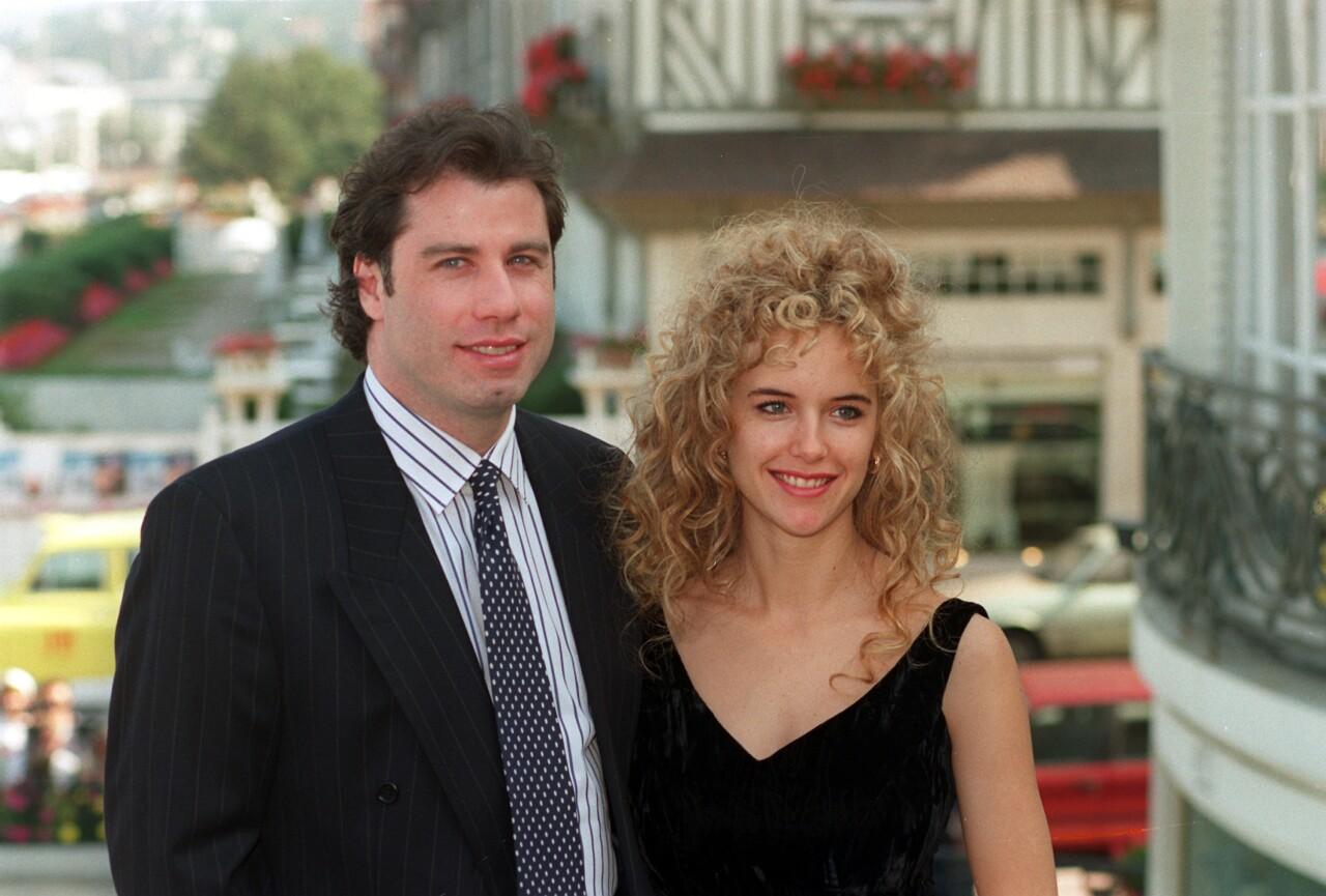 John Travolta and Kelly Preston in 1991