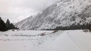 Highway 38 snow