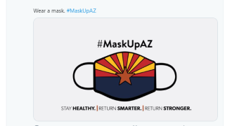 Gov Ducey masks tweet