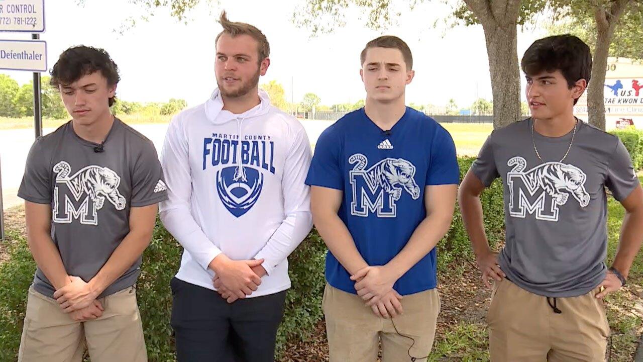 Martin County High School football players and friends remember teammate Nikolas Lawrynas