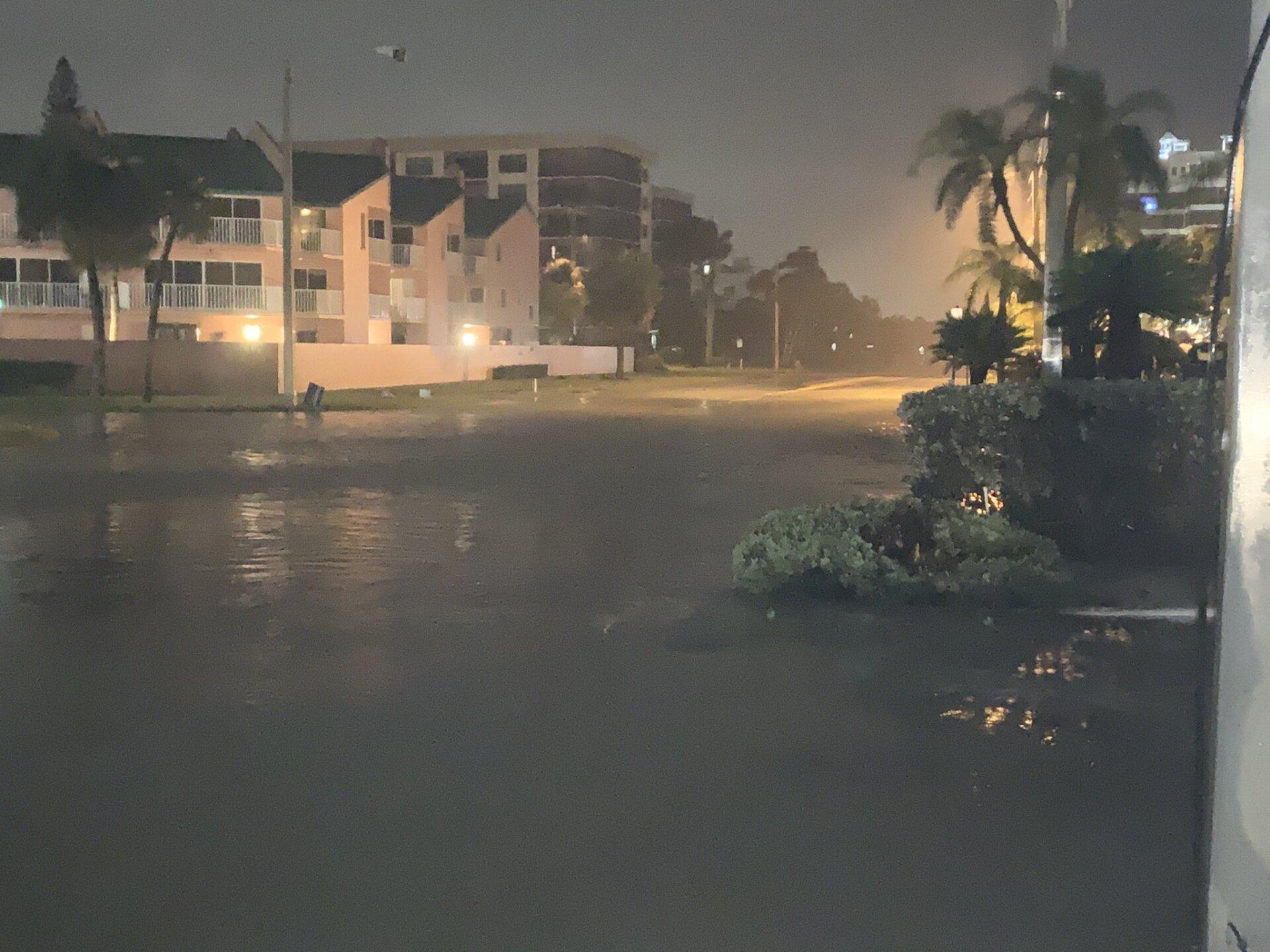 Ben Franklin still dealing with water on the roadways in Lido Key BULL.jpg
