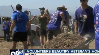 Volunteers beautify local veteran's home