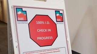 DABC 100% ID sign
