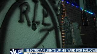 Clairemont electrician lights up yard for Halloween