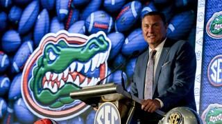 Florida Gators head coach Dan Mullen at 2021 SEC media days