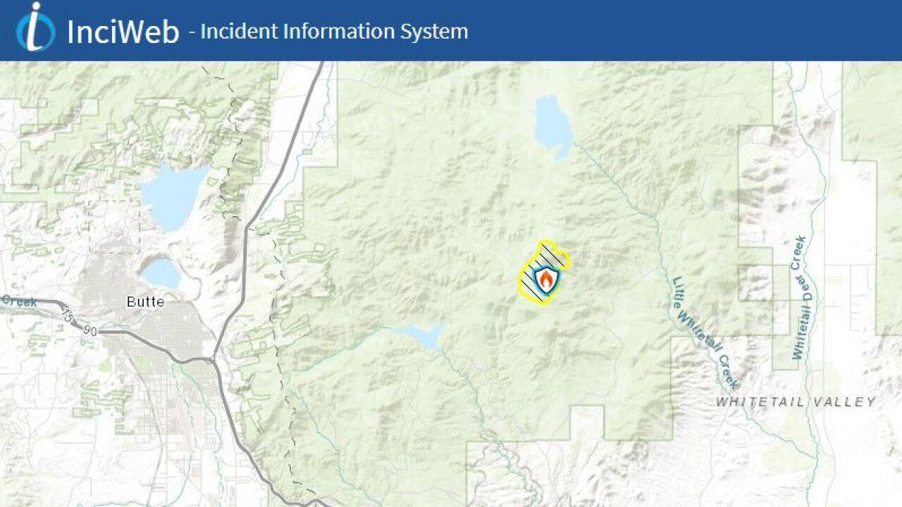 McClusky Fire east of Butte (Inciweb Map)