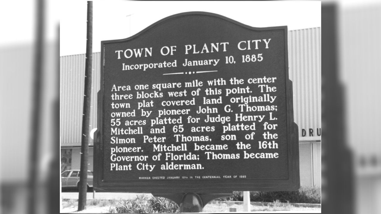 Plant City town marker