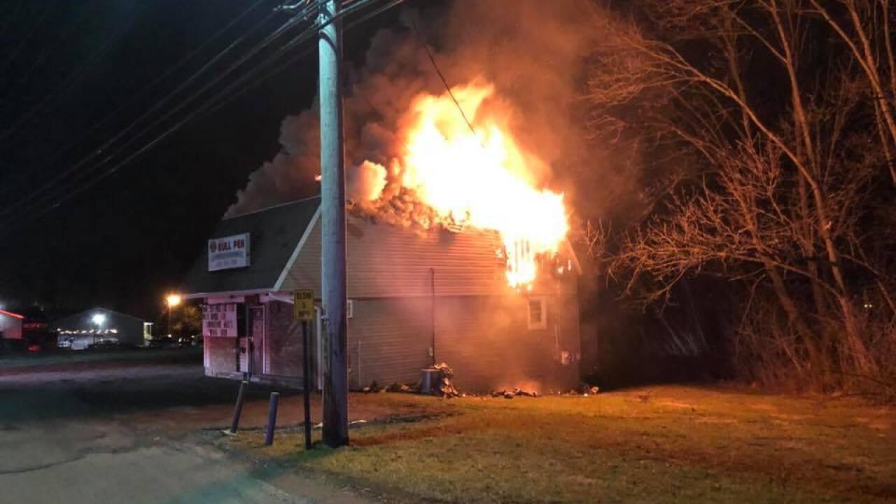 Fire destroys Bolen's Bull Pen in Carroll County