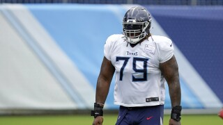 Tennessee Titans offensive tackle Isaiah Wilson in August 2020