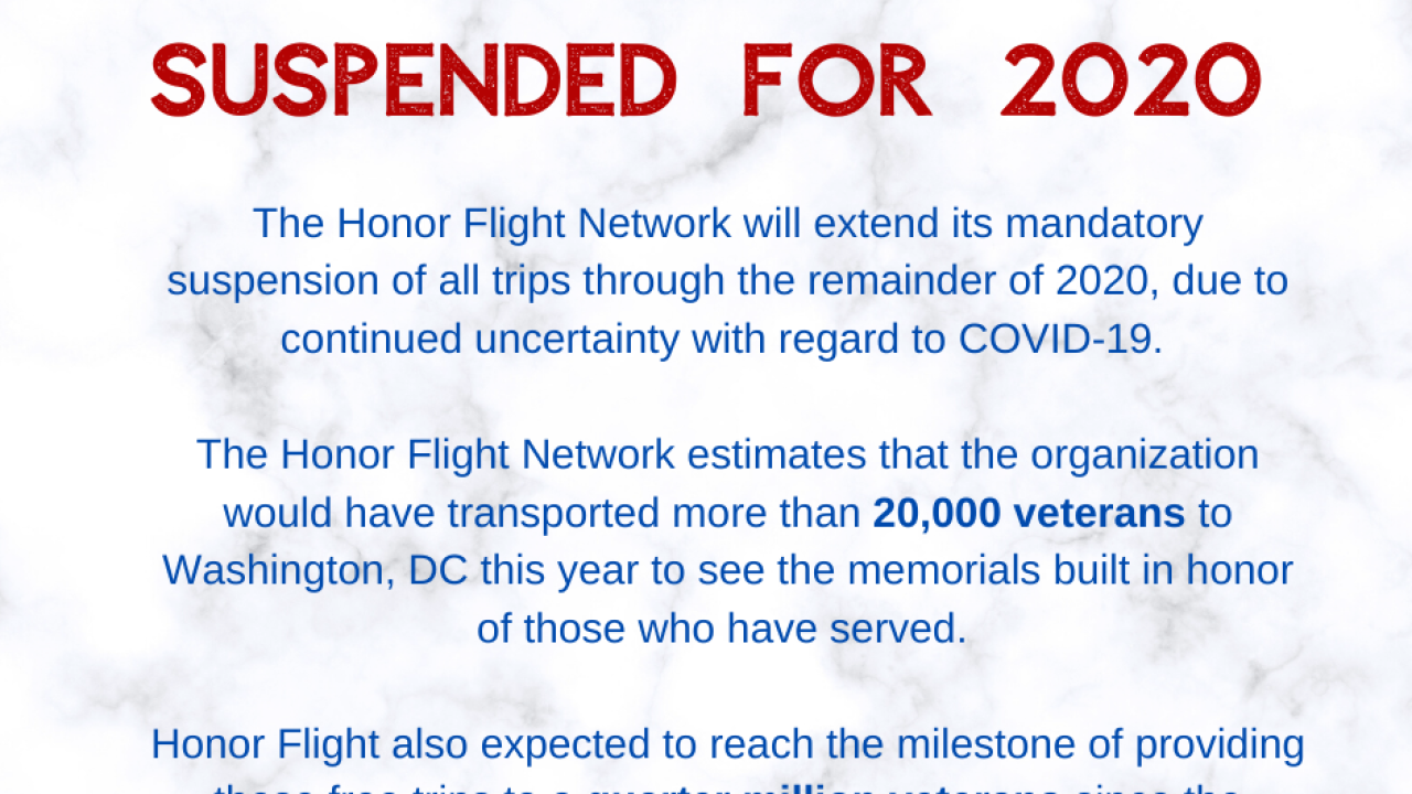 Honor Flights suspended