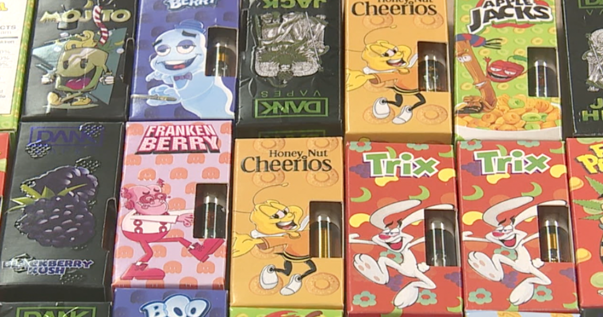 Vaping 'Cereal Carts' seized in Northeast Ohio look and