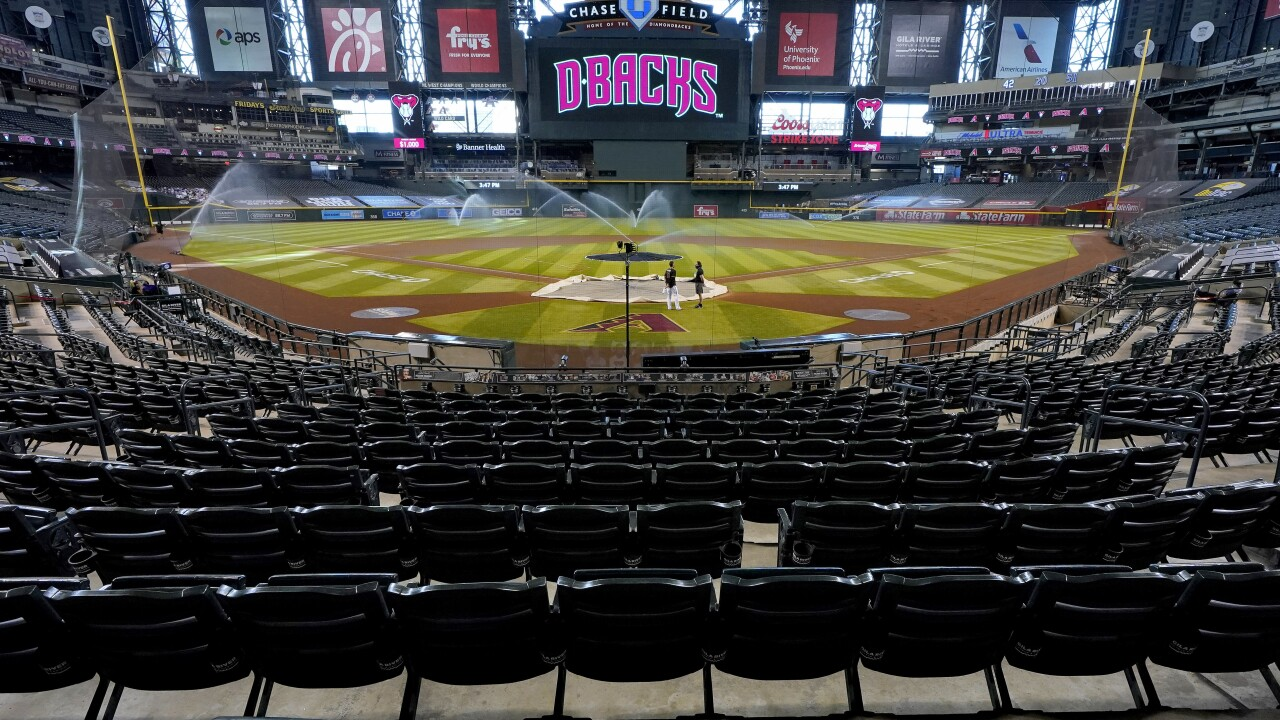 Arizona's first sports betting operations are set to open in time for the start of the NFL season with live wagers allowed on college and professional sports. AP photo.
