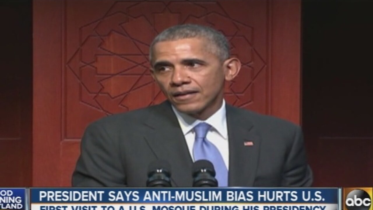 Pesident Obama speaks at mosque in county